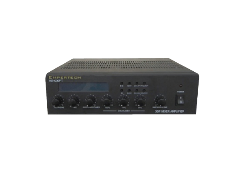 30W/60W   Desktop Mixer Amplifier with Tuner, MP3, and USB